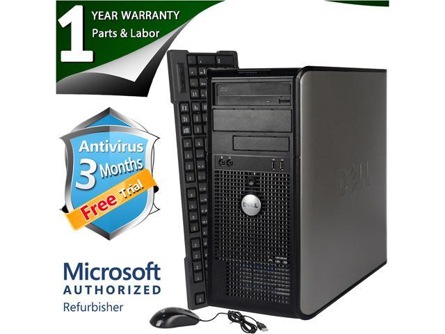 DELL Desktop Computer 745 Core 2 Duo E6300 (1.86 GHz) 4 GB DDR2 160 GB HDD Windows 7 Professional 64-Bit