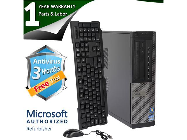 DELL Desktop Computer 790 Intel Core i3 2nd Gen 2100 (3.10 GHz) 8 GB DDR3 250 GB HDD Windows 7 Professional 64 bit