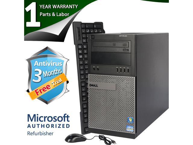 DELL Desktop Computer 990 Intel Core i5 2400 (3.10 GHz) 8 GB DDR3 1 TB HDD Windows 7 Professional 64 Bit