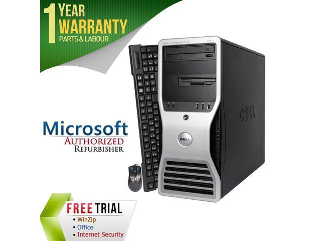 DELL Desktop Computer 490 XEON 5130 x 2 (2.00 GHz) 4 GB DDR2 160 GB HDD Windows 7 Professional 64-Bit