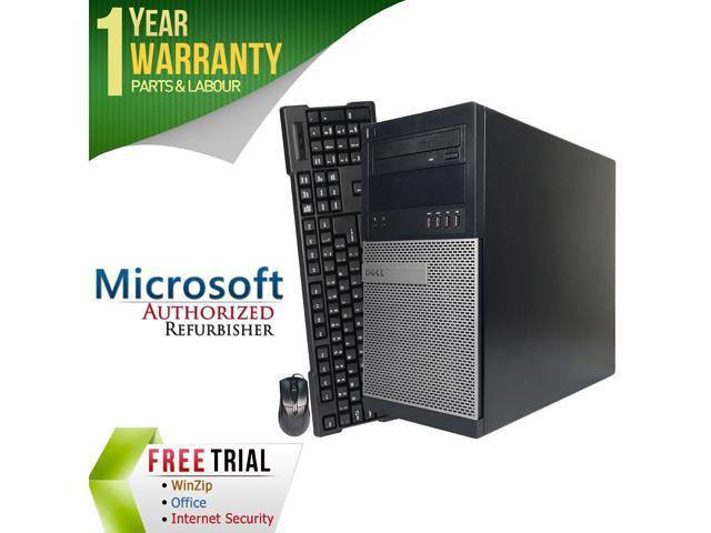DELL Desktop Computer 7010 Intel Core i7 3770 (3.40 GHz) 4 GB DDR3 250 GB HDD Windows 7 Professional 64-Bit