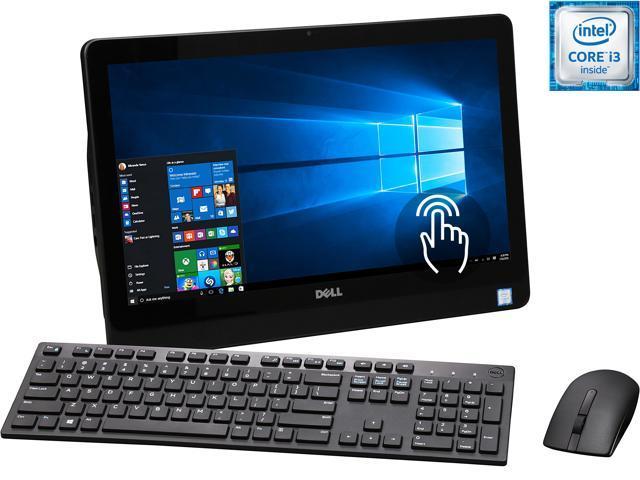 DELL All-in-One Computer Inspiron i3059-3156BLK Intel Core i3 6100U (2.30 GHz) 4 GB DDR3 1 TB HDD 19.5