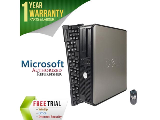 DELL Desktop Computer 360 Core 2 Quad Q6600 (2.40 GHz) 4 GB DDR2 250 GB HDD Intel Graphics Media Accelerator 3100 Windows 7 Professional 64-Bit