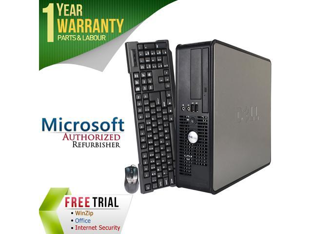 DELL Desktop Computer 745 Core 2 Duo 2.0 GHz 4 GB DDR2 250 GB HDD Windows 7 Professional 64-Bit
