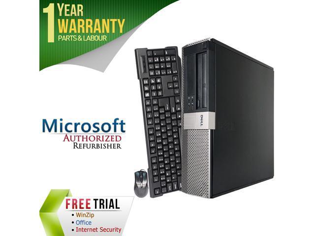 DELL Desktop Computer 960 Core 2 Quad Q8200 (2.33 GHz) 4 GB DDR2 250 GB HDD Windows 7 Professional 64-Bit