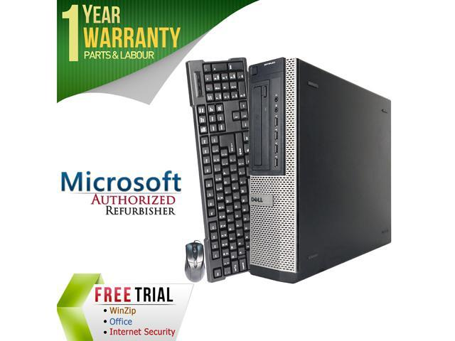 DELL Desktop Computer 990 Intel Core i3 2100 (3.10 GHz) 8 GB DDR3 2 TB HDD Intel HD Graphics 2000 Windows 7 Professional 64-Bit