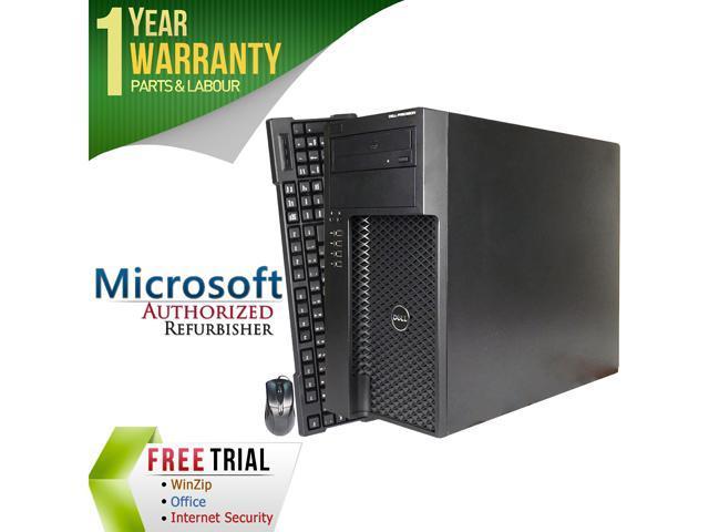DELL Desktop Computer Precision T1650 Intel Core i7 3770 (3.40 GHz) 8 GB DDR3 2 TB HDD NVIDIA NVS 300 Windows 7 Professional 64-Bit