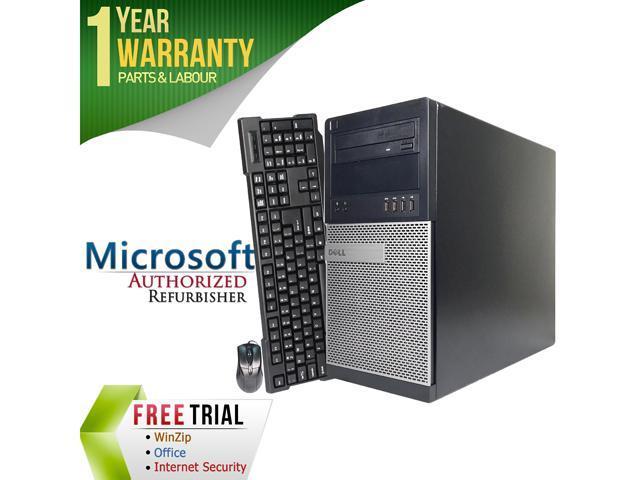Refurbished: DELL Desktop Computer 9010 Intel Core i3 3rd Gen 3220 (3.30 GHz) 4 GB DDR3 500 GB HDD Intel HD Graphics 2500 Windows 7 Professional 64-Bit