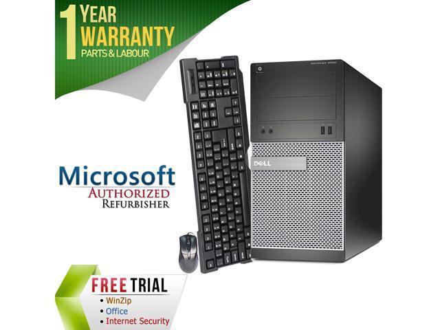 DELL Desktop Computer 390 Intel Core i3 2100 (3.10 GHz) 4 GB DDR3 250 GB HDD Intel HD Graphics 2000 Windows 7 Professional 64-Bit