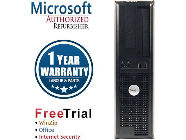 DELL Desktop Computer OptiPlex GX360 Core 2 Quad Q8200 (2.33 GHz) 4 GB DDR2 250 GB HDD Intel GMA 3100 Windows 10 Pro