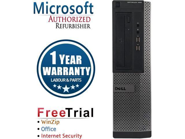 DELL Desktop Computer OptiPlex GX390 Intel Core i3 2100 (3.10 GHz) 4 GB DDR3 250 GB HDD Intel HD Graphics 2000 Windows 10 Pro