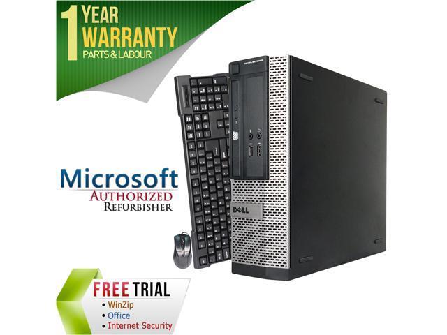 DELL Desktop Computer 390 Intel Core i3 2nd Gen 2100 (3.10 GHz) 4 GB DDR3 1 TB HDD Intel HD Graphics 2000 Windows 10 Pro