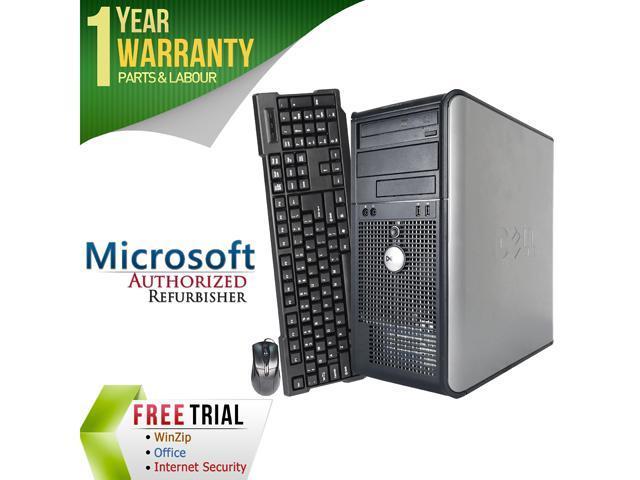 DELL Desktop Computer OptiPlex GX745 Core 2 Duo E6300 (1.86 GHz) 4 GB DDR2 1 TB HDD Intel HD Graphics Windows 10 Home
