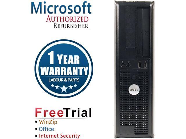 DELL Desktop Computer OptiPlex GX755 Core 2 Duo E7400 (2.80 GHz) 4 GB DDR2 1 TB HDD Intel HD Graphics Windows 10 Home