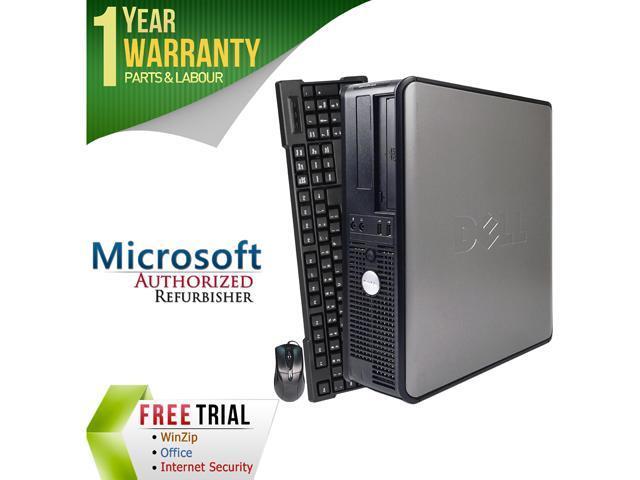 DELL Desktop Computer OptiPlex GX755 Core 2 Quad Q6600 (2.40 GHz) 4 GB DDR2 250 GB HDD Intel HD Graphics Windows 10 Pro