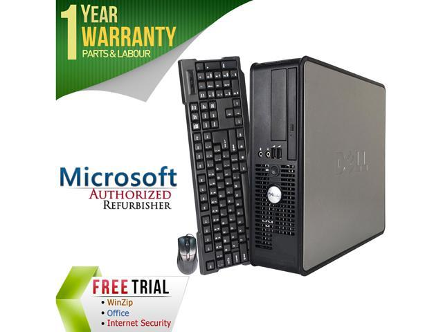 DELL Desktop Computer OptiPlex GX755 Core 2 Duo E6750 (2.66 GHz) 4 GB DDR2 1 TB HDD Intel HD Graphics Windows 10 Pro