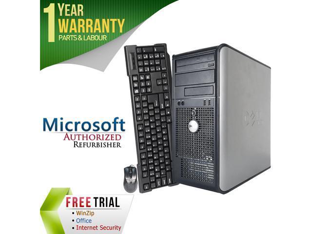DELL Desktop Computer OptiPlex GX755 Core 2 Quad Q6600 (2.40 GHz) 4 GB DDR2 1 TB HDD Intel HD Graphics Windows 10 Pro
