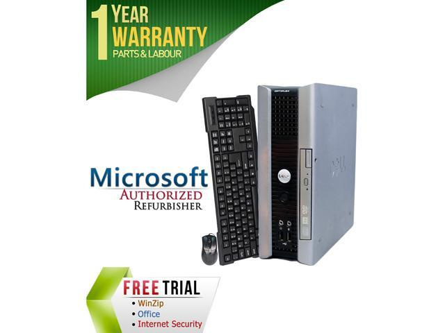DELL Desktop Computer OptiPlex GX755 Core 2 Duo E7400 (2.80 GHz) 4 GB DDR2 160 GB HDD Intel HD Graphics Windows 10 Home