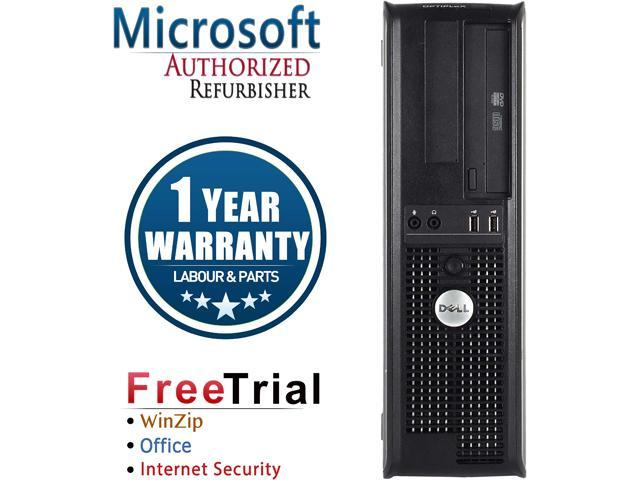 DELL Desktop Computer OptiPlex GX760 Core 2 Quad Q6600 (2.40 GHz) 4 GB DDR2 250 GB HDD Intel HD Graphics Windows 10 Pro