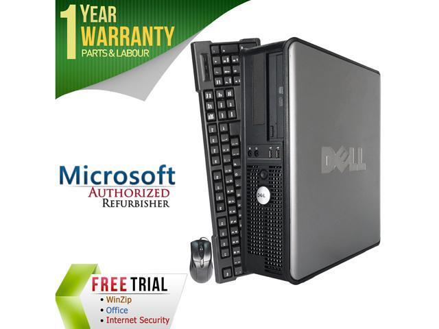 DELL Desktop Computer OptiPlex GX760 Core 2 Quad Q8200 (2.33 GHz) 4 GB DDR2 500 GB HDD Intel HD Graphics Windows 10 Pro