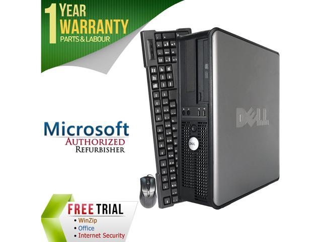 DELL Desktop Computer OptiPlex GX760 Core 2 Duo E8400 (3.00 GHz) 4 GB DDR2 500 GB HDD Intel HD Graphics Windows 10 Pro
