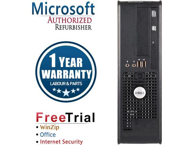 DELL Desktop Computer OptiPlex GX760 Core 2 Quad Q6600 (2.40 GHz) 4 GB DDR2 500 GB HDD Intel HD Graphics Windows 10 Pro