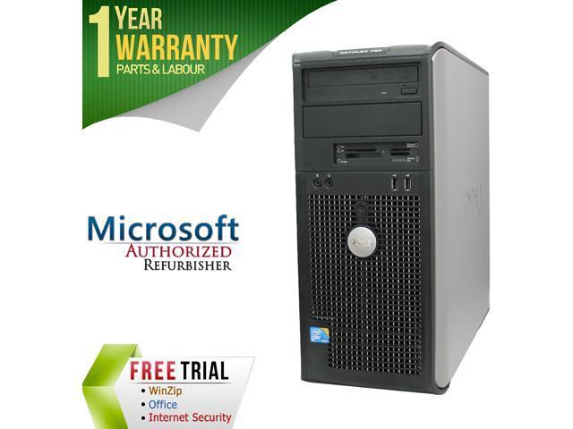 DELL Desktop Computer GX760 Core 2 Duo E7600 (3.06 GHz) 4 GB DDR2 250 GB HDD Windows 10 Home