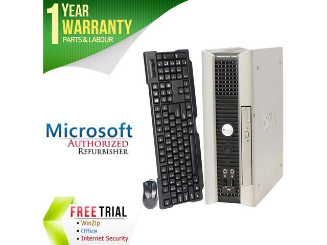 DELL Desktop Computer OptiPlex GX760 Core 2 Duo E7600 (3.06 GHz) 4 GB DDR2 160 GB HDD Intel HD Graphics Windows 10 Home