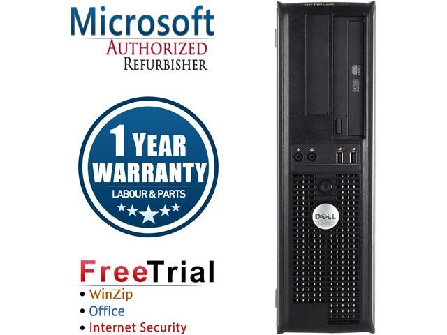 DELL Desktop Computer OptiPlex GX780 Core 2 Duo E8400 (3.00 GHz) 4 GB DDR3 250 GB HDD Intel HD Graphics Windows 10 Pro