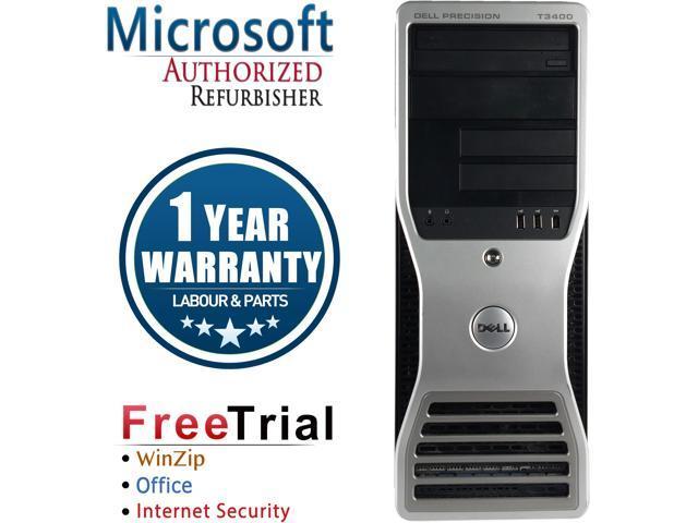 DELL Desktop Computer Precision T3400 Core 2 Duo E6550 (2.33 GHz) 4 GB DDR2 160 GB HDD NVIDIA NVS 285 Windows 10 Pro