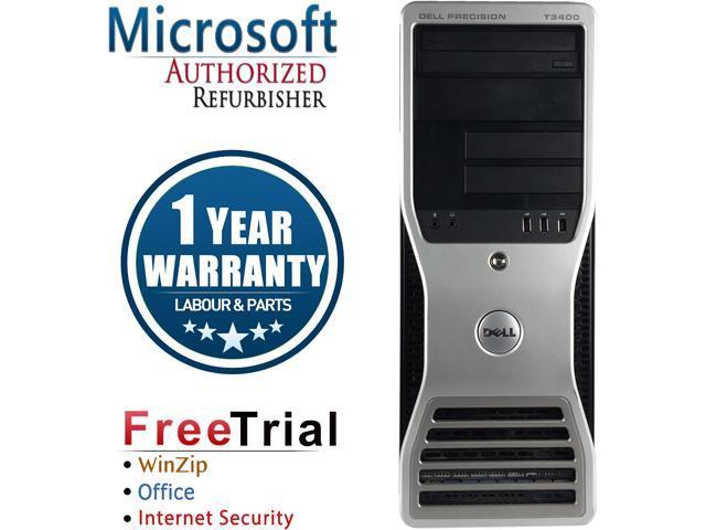 DELL Desktop Computer Precision T3400 Core 2 Duo E7600 (3.06 GHz) 4 GB DDR2 320 GB HDD NVIDIA NVS 285 Windows 10 Pro