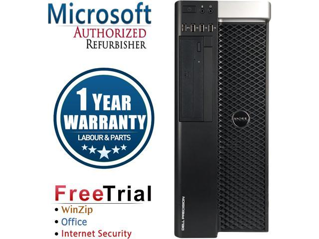 DELL Desktop Computer Precision T3600 Intel Xeon E5-1620 (3.6 GHz) 8 GB DDR3 2 TB HDD NVIDIA NVS 300 Windows 10 Pro