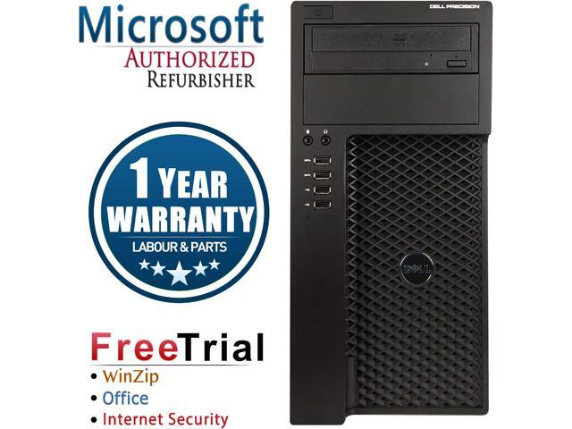 DELL Desktop Computer Precision T1650 Intel Core i5 3470 (3.20 GHz) 8 GB DDR3 2 TB HDD NVIDIA NVS 300 Windows 10 Pro