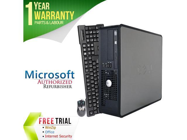 DELL Desktop Computer OptiPlex GX780 Core 2 Quad Q6600 (2.40 GHz) 4 GB DDR3 250 GB HDD Intel HD Graphics Windows 10 Pro