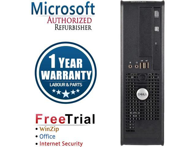 DELL Desktop Computer OptiPlex GX780 Core 2 Quad Q8200 (2.33 GHz) 8 GB DDR3 500 GB HDD Intel HD Graphics Windows 10 Pro