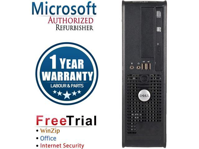 DELL Desktop Computer OptiPlex GX780-SFF Core 2 Duo E8400 (3.00 GHz) 8 GB DDR3 320 GB HDD Intel GMA 4500 Windows 10 Pro
