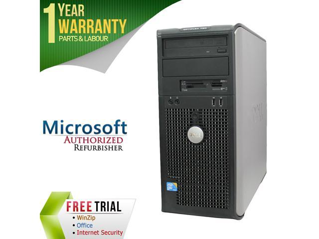 DELL Desktop Computer OptiPlex GX780-Tower Core 2 Duo E8400 (3.00 GHz) 4 GB DDR3 320 GB HDD Intel GMA 4500 Windows 10 Pro
