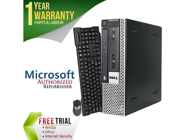 DELL Desktop Computer OptiPlex GX780-USFF Core 2 Duo E8400 (3.00 GHz) 4 GB DDR3 160 GB HDD Intel GMA 4500 Windows 10 Pro