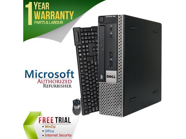 DELL Desktop Computer OptiPlex GX790-USFF Intel Core i3 2100 (3.10 GHz) 4 GB DDR3 500 GB HDD Intel HD Graphics 2000 Windows 10 Pro