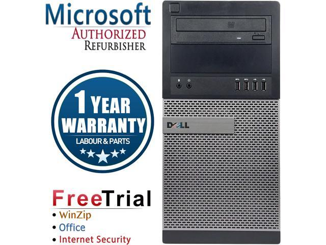 DELL Desktop Computer OptiPlex 9020-Tower Intel Core i5 4570 (3.20 GHz) 8 GB DDR3 1 TB HDD Intel HD Graphics 4600 Windows 10 Pro