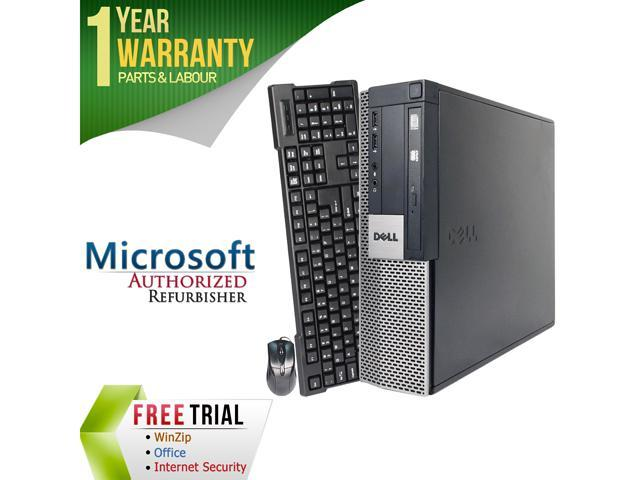 DELL Desktop Computer OptiPlex GX960-SFF Core 2 Quad Q6600 (2.40 GHz) 4 GB DDR2 1 TB HDD Intel HD Graphics Windows 10 Pro