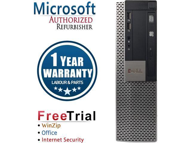 DELL Desktop Computer OptiPlex GX960-SFF Core 2 Duo E8400 (3.00 GHz) 4 GB DDR2 1 TB HDD Intel HD Graphics Windows 10 Pro