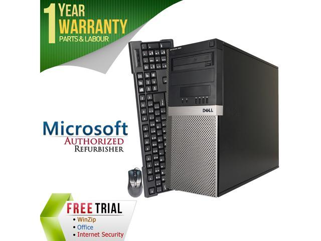 DELL Desktop Computer OptiPlex GX960-Tower Core 2 Quad Q6600 (2.40 GHz) 4 GB DDR2 1 TB HDD Intel HD Graphics Windows 10 Pro