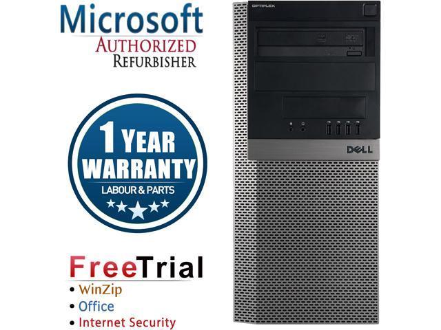 DELL Desktop Computer OptiPlex GX960-Tower Core 2 Quad Q6600 (2.40 GHz) 4 GB DDR2 1 TB HDD Intel HD Graphics Windows 10 Pro