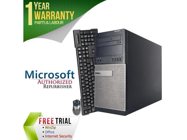 DELL Desktop Computer GX990-Tower Intel Core i7 2600 (3.40 GHz) 4 GB DDR3 250 GB HDD Intel HD Graphics 2000 Windows 10 Pro