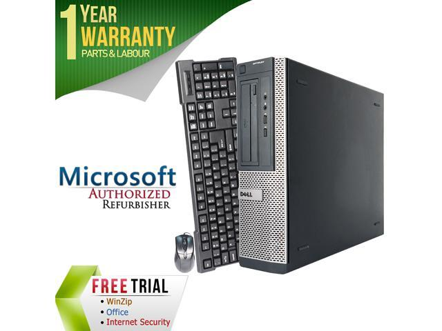 Refurbished Dell OptiPlex 3010 Desktop Intel Core I5 3450 3.1G / 8G DDR3 / 2TB / DVD / Windows 7 Professional 64 Bit / 1 Year Warranty