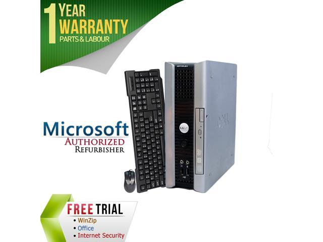 Refurbrished Dell Optiplex 755 USFF Core 2 Duo E7400 2.8G / 4G DDR2 / 160G / DVD / Windows 7 Professional 64 Bit / 1 Year Warranty