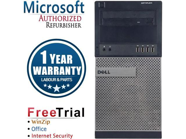 Refurbished Dell OptiPlex 990 Tower Intel Core I7 2600 3.4G / 4G DDR3 / 1TB / DVD / Windows 7 Professional 64 Bit / 1 Year Warranty