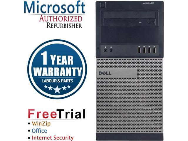 Refurbished Dell OptiPlex 990 Tower Intel Core I7 2600 3.4G / 8G DDR3 / 2TB / DVD / Windows 7 Professional 64 Bit / 1 Year Warranty