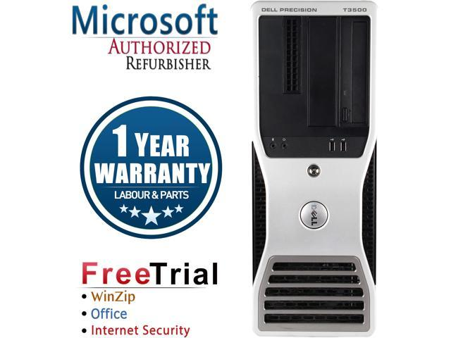 Refurbished DELL Precision T3500 Tower Intel Xeon E5620 2.4G / 4G DDR3 / 250G / DVD / NVS285+DVI cable/  Windows 7 Professional 64 Bit / 1 Year Warranty